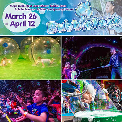 Come to see the large bubble drum stations, bubble exhibits, science demonstrations, water walking bubbles
