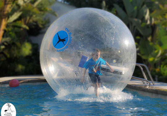 rolling bubble ball